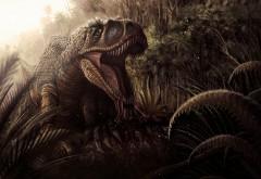 2560x1600, Тиранозавр рекс в джунглях
