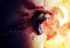 2560x1600, Фэнтези рык льва дикого животного