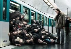 Московское метро час пик фото