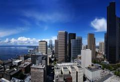 Город Сиэтл Соединенные штаты обои на комп