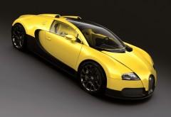 Желтый Бугати Вейрон спорткар на рабочий стол картинк�…