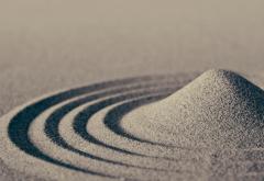 2560x1600, Геометрическое произведение из сухого песка