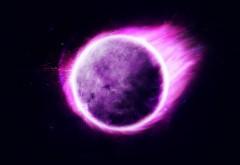 Фиолетовая планета в космосе картинки
