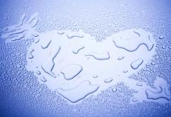 Сердце любовное на стекле картинки
