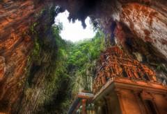 Храм пещеры Малайзия широкоформатные обои на раб стол