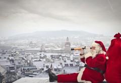 Санта Клаус в городе скачать картинки