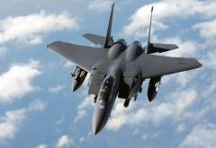 Военный истребитель F-15e Strike Eagle
