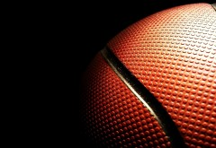Макро снимок баскетбольного мяча