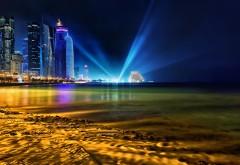 Доха Катар лазерное шоу