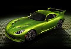 Быстрый ярко зеленый автомобиль Viper