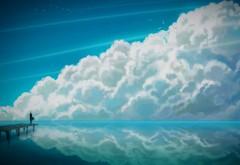 Облока над морем картинки