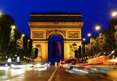 Триумфальная Арка ночного Парижа
