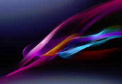 Рисованные яркие абстрактные линии