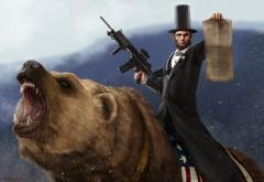Авраам Линкольн на медведе картинки