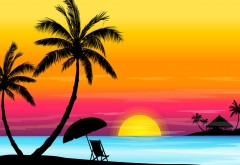Векторные картинки солнечного пляжа скачать бесплатно
