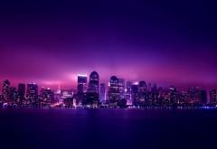 Оригинальный снимок ночного мегаполиса