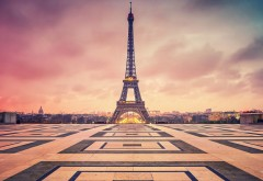 Paris Eiffel Tower Twilight Clouds HD Wallpapers