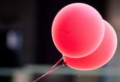 Розовые воздушные шарики обои на рабочий стол