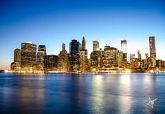 Manhattan Skyline красивый огненный город картинки скачать