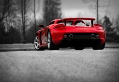 Porsche Carrera GT красный автомобиль заставки