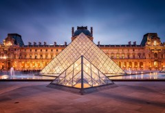 Paris France Louvre City Lights HD картинки на рабочий стол