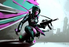 Фэнтези девушка с оружием из игры картинки на рабочий �…