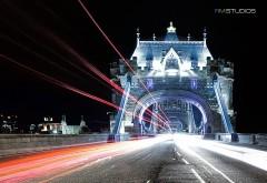 Тауэрский мост, Лондон, ночь