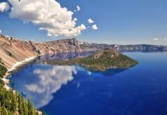 Озеро кратер природа обои hd скачать на рабочий стол