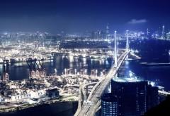 Панорама ночного города скачать картинки бесплатно