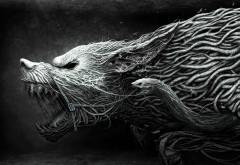 Фэнтези черный волк картинки на рабочий стол