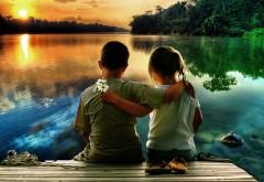 Маленькие детки на озере картинки на рабочий стол