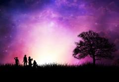 Пурпурное небо на закате картинки на рабочий стол скачать