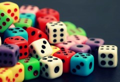 Colored dices wallpapers high resolution