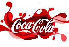 Логотип кока-кола на белом фоне