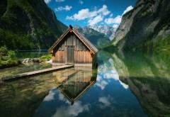 Немецкий ландшафт домик в горах