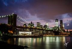 Бруклинский мост на Манхетен обои hd