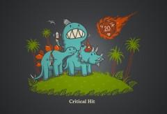 Рисованные обои динозавра hd