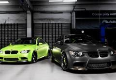 Два БМВ М3 в гараже обои hd