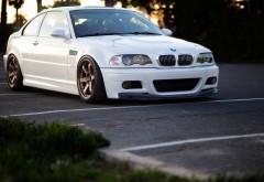 bmw m3 e46 белого цвета автомобиль обои hd