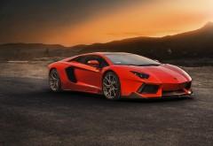 Автомобиль оранжевый Lamborghini Aventador LP 740 обои hd