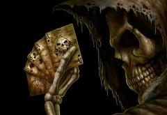 Смерть игра скелет с картами обои hd