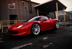 Автомобиль Ferrari 458 Italia красный обои hd