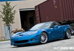 Голубой Корвет з06 шикарный автомобиль обои hd