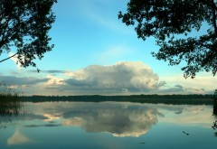 Облока природа озеро картинки на рабочий стол
