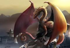 Фэнтези Дракон картинки на рабочий стол