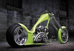 Ярко зеленый мотоцикл картинки на рабочий стол