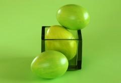 Зеленые пасхальные яйца картинки на рабочий стол