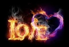 Рисунок огненной страстной любви