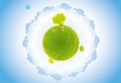 Зеленый земной шар картинки на рабочий стол
