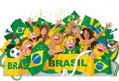 Чемпионат мира по футболу в Бразилии рисованный карти�…